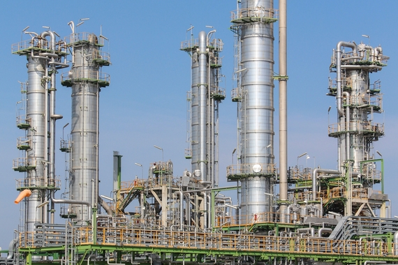Chemical plant Olefin fractionation coloumn