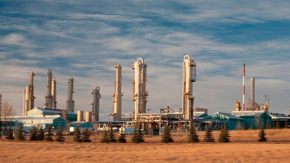 Natural gas plant in Alberta Canada