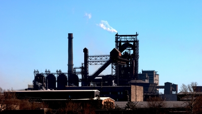 Steel plant with blast furnace