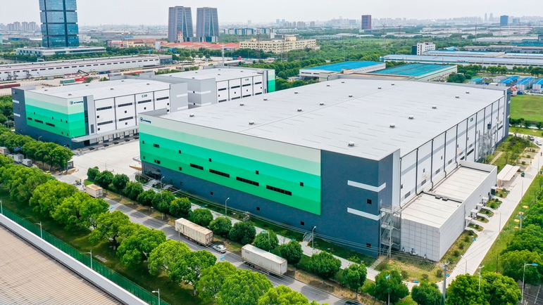 New logistics center in Suzhou, China.